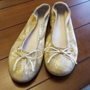 GOLD BALLET 👑 FLATS